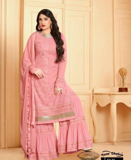 Gota Patti Punjabi Sharara Suits Party Wear