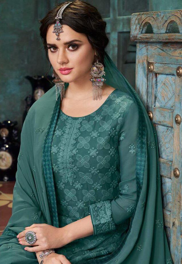 Jade Colour Salwar Suits Latest