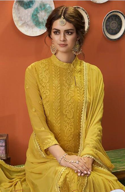 Latest Designer Haldi Function Dress for Bride Sister