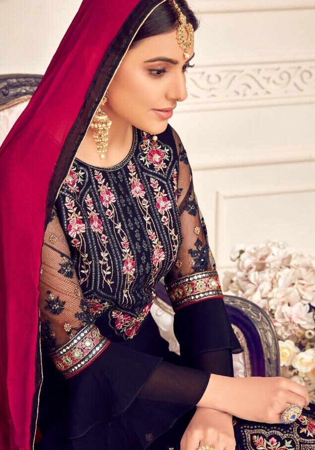 Latest Party Wear Salwar Suits Heavy Embroidery