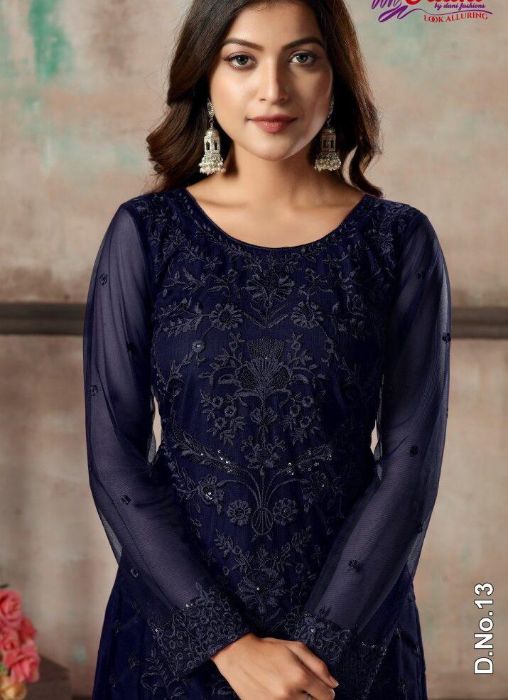 Net Salwar Suits with Dupatta