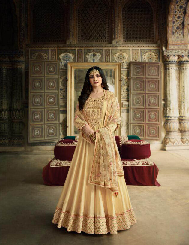 New Trend Designer Dola Silk Embroidery Work Wedding Suit.
