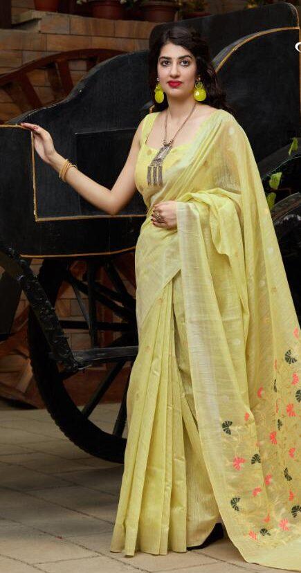 New designer best embroidered bridal silk saree