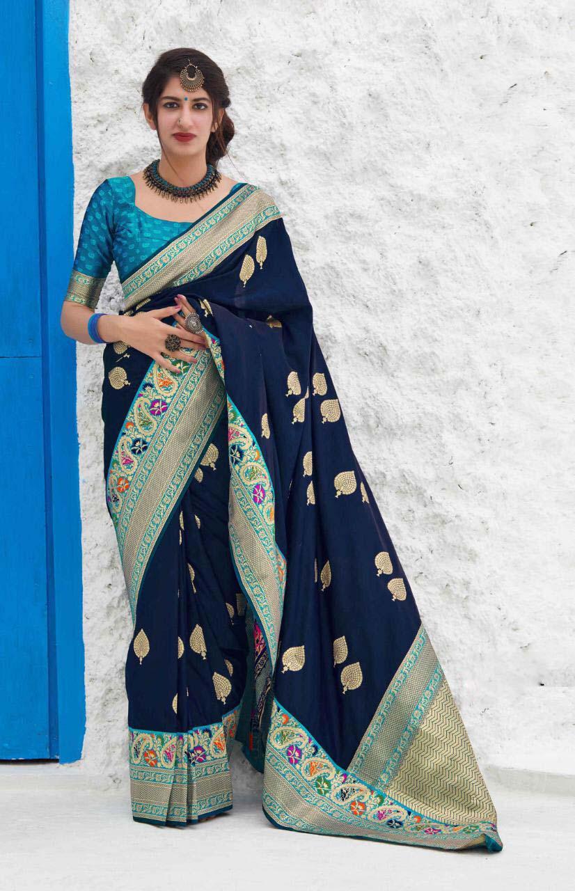 New trend designer best georgette silk saree with blouse