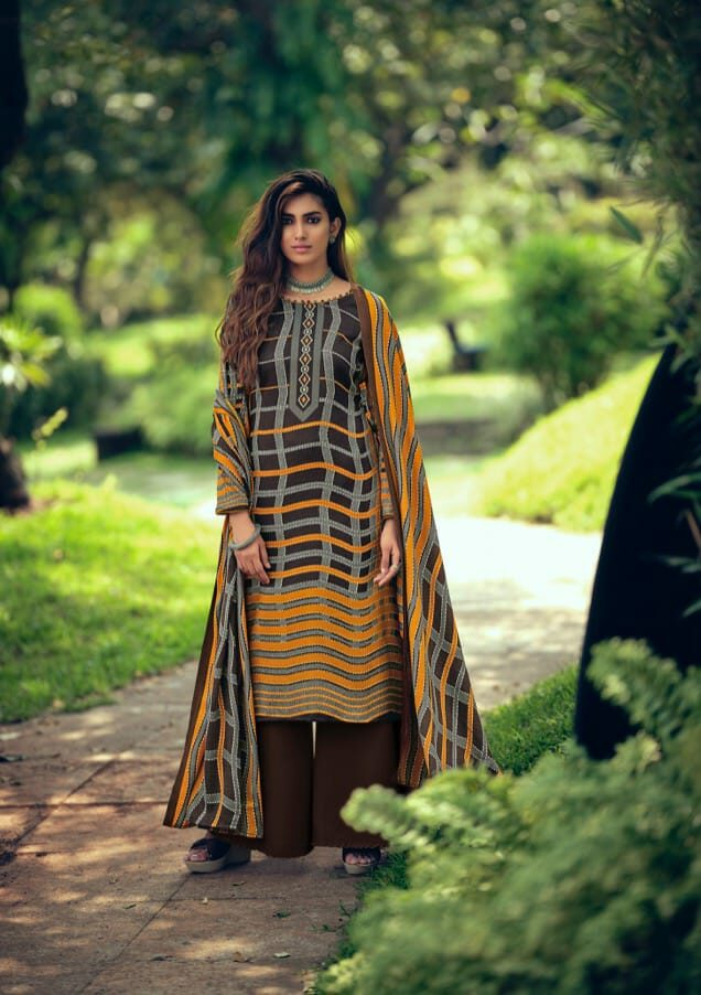 Best Black Pure Pashmina Digital Style Printed Salwar Kameez