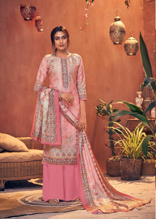 Best Pink Color Pure Pashmina Winter salwar kameez