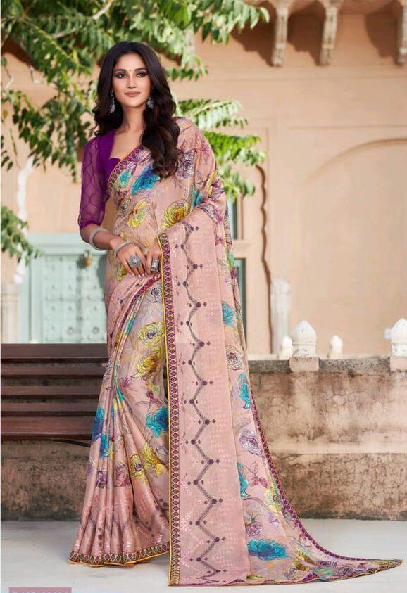 Designer Saree with Designer Blouse Office Wear