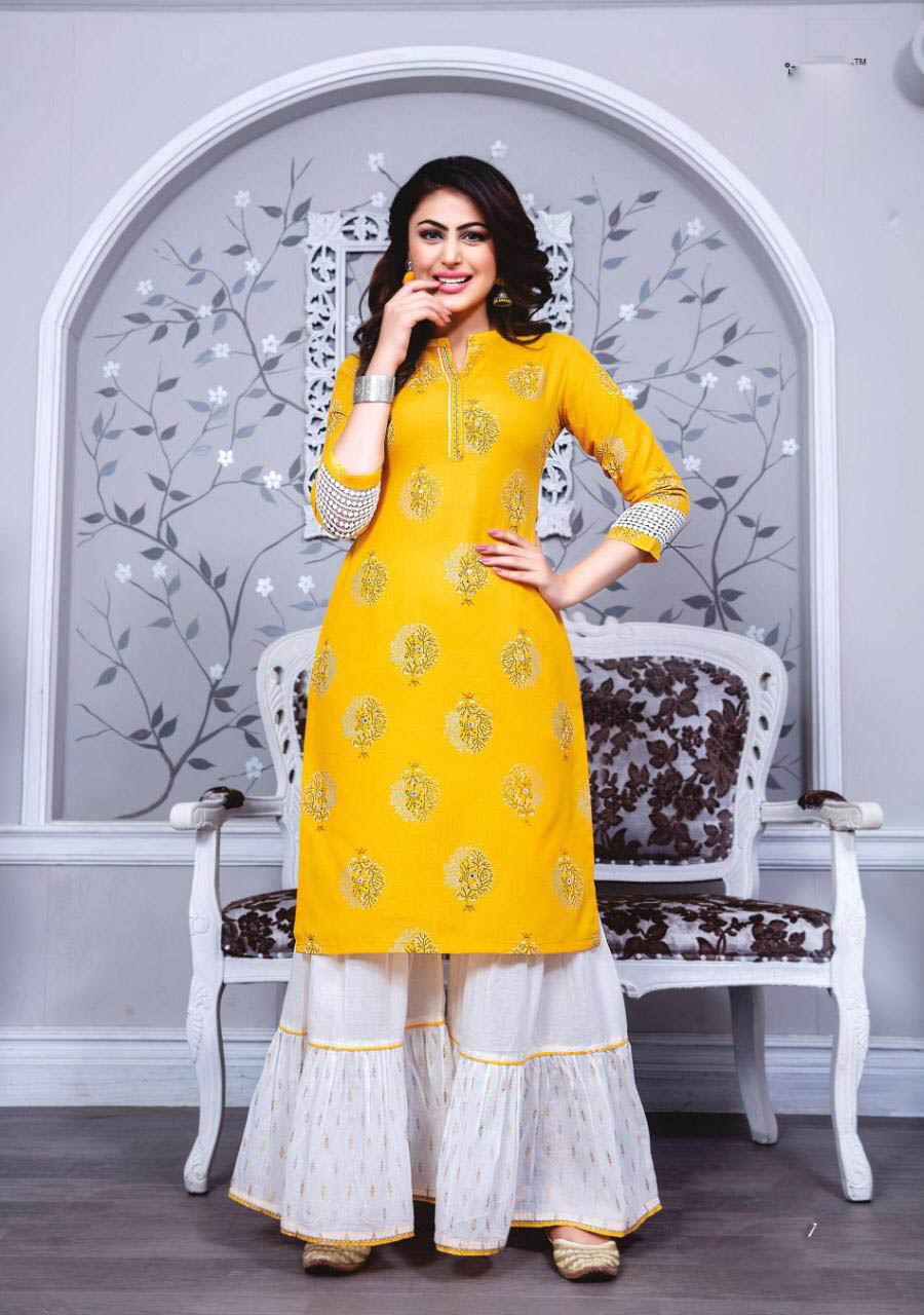 New Designer Yellow Color Kashmiri Readymade Wooden Suit