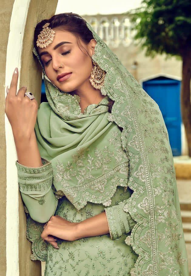 New Inventer Light Green Color Designer Salwar Kameez.