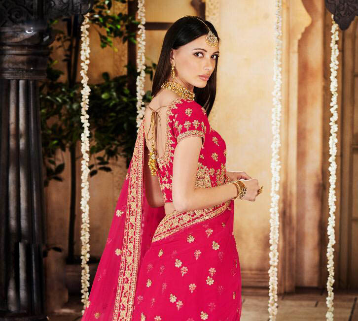 New Latest Design Pink Color Lehenga for bridal cost