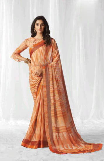 New Mode Maker Latest Designer Party Wear Saree With Blouse.