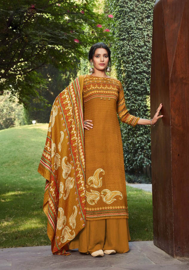 New Soil Color Best latest Winter Wear Salwar Suit Online Cost