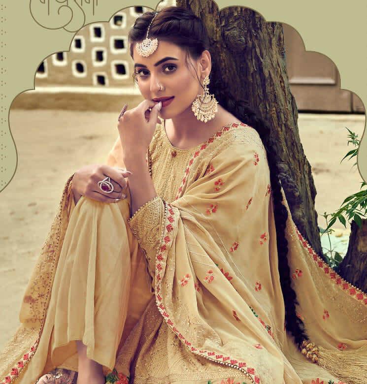 New Trend Designer Mustard Color Salwar Kameez.
