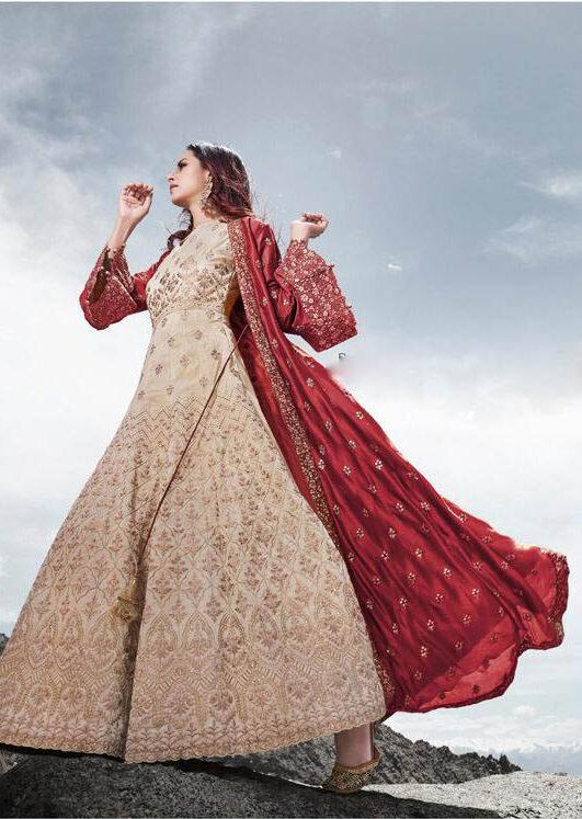 New Trend Latest Design White Color Silk Net Lehenga For Bride