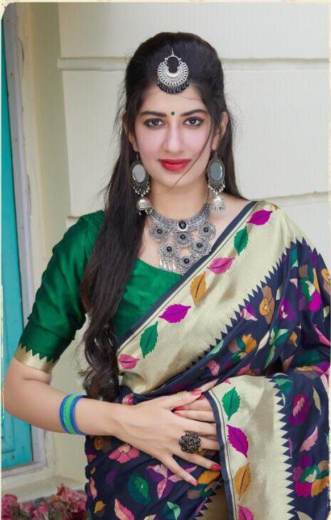 Multicolor Latest Arrival Silk Designer Saree