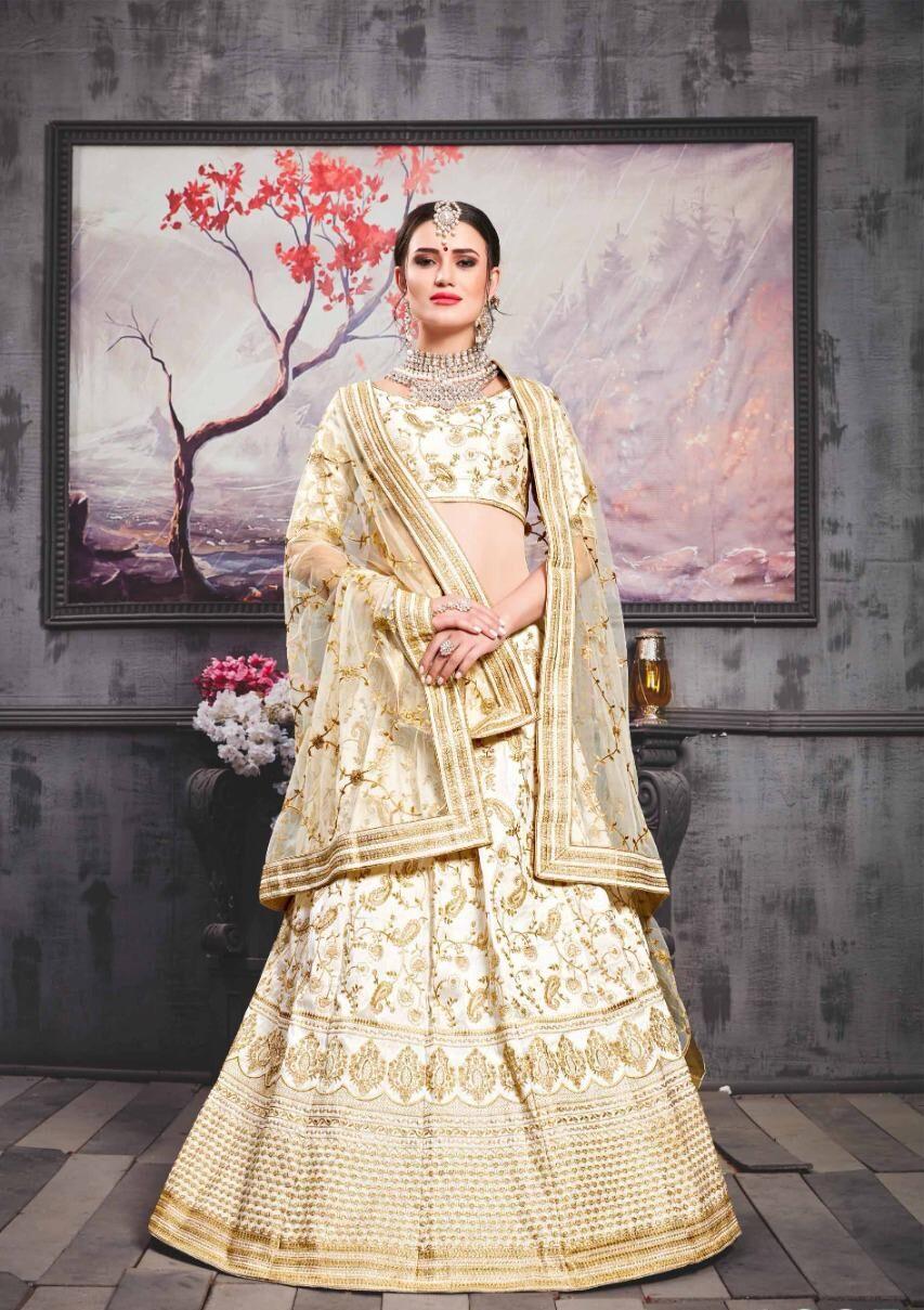 Best Trend Designer White Color Lehenga For Bride Online