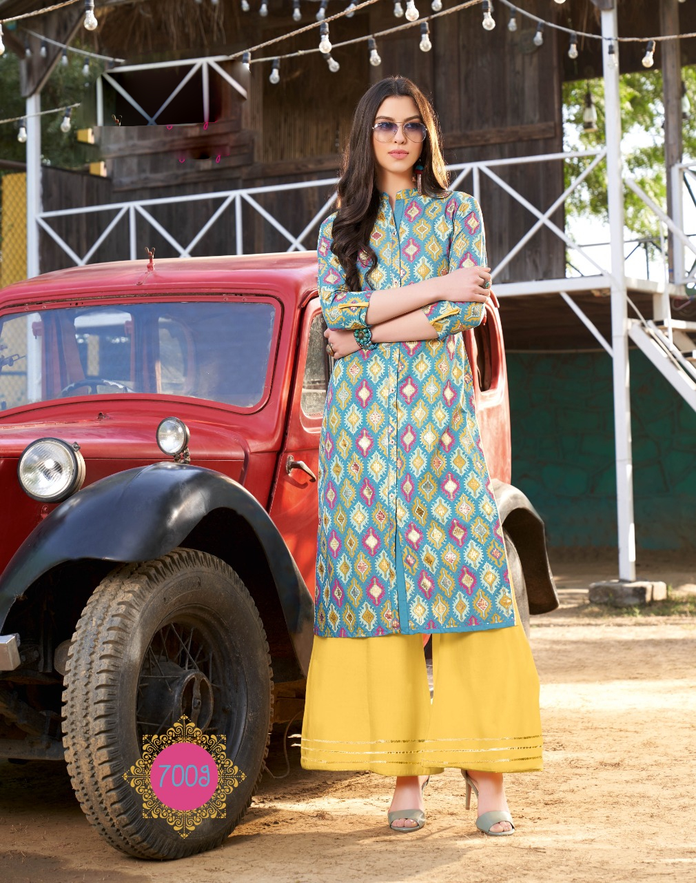 Designer Printed Regular Wear Kurta Palazzo Design