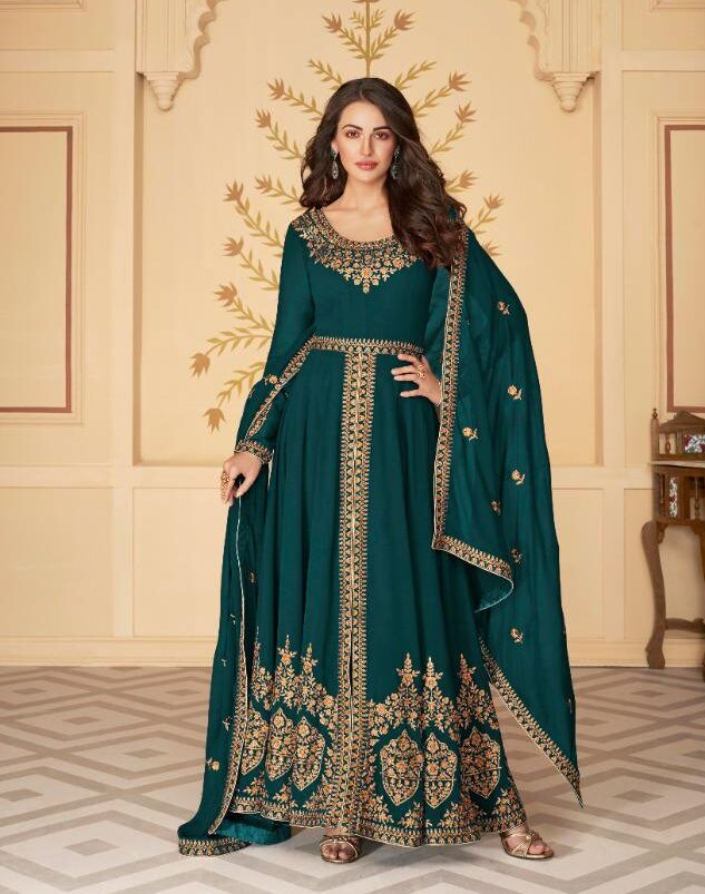 New Best Blue Color Real Georgette Santoon Suit