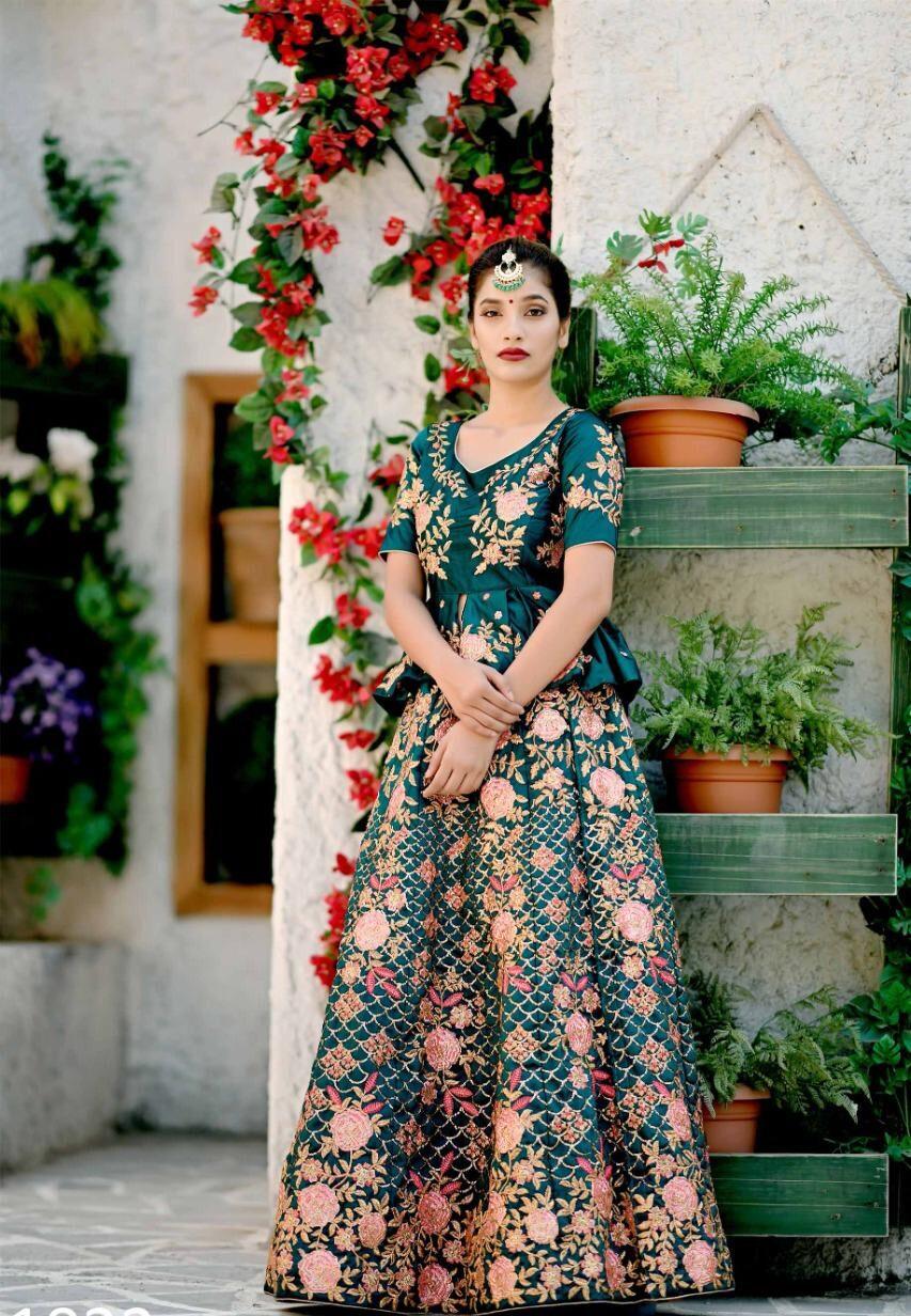 New Best Trend Designer Blue Color Lehenga For Bride