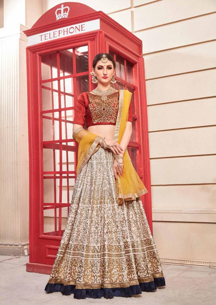 New Latest Yellow Color Lehenga For Marriage Ceremony Online