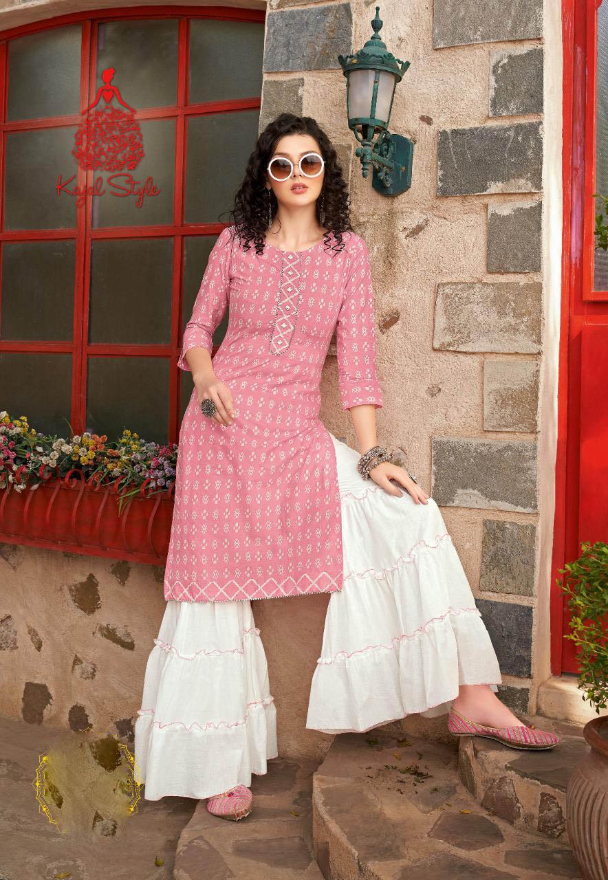 New Trend Designer Light Pink Color Sahara Suit