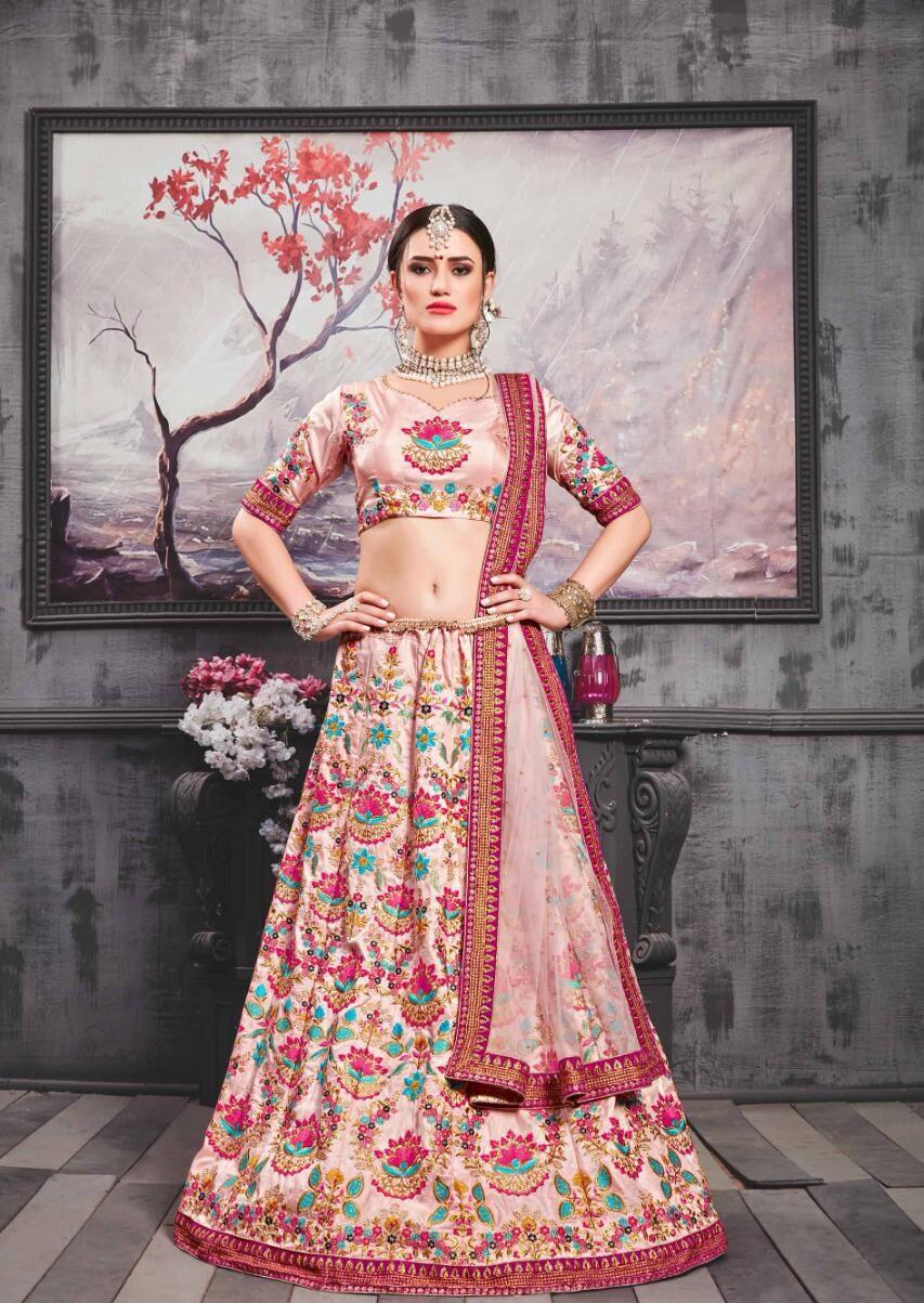 New Trend Mode Maker White Color Lehenga For Bride.