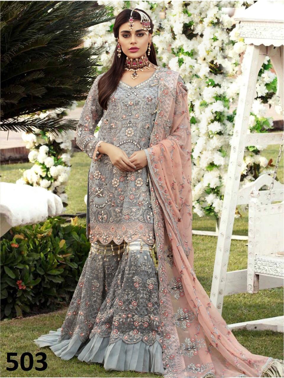 Pakistani Latest Gharara Styles with Long Shirts