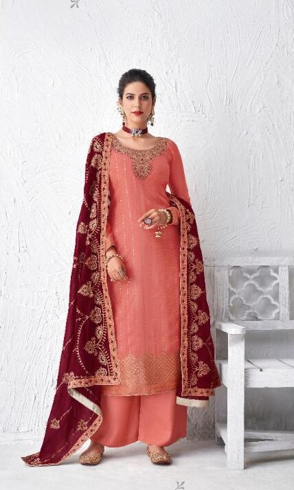 Best Orange Color Bridal Salwar Suit For Wedding.