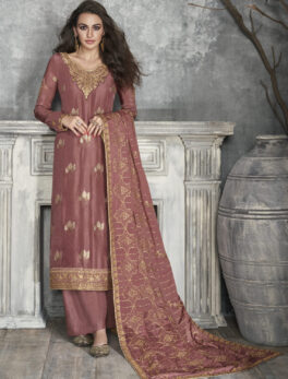 Coffee Colour Bridal Punjabi Suits with Heavy Dupatta