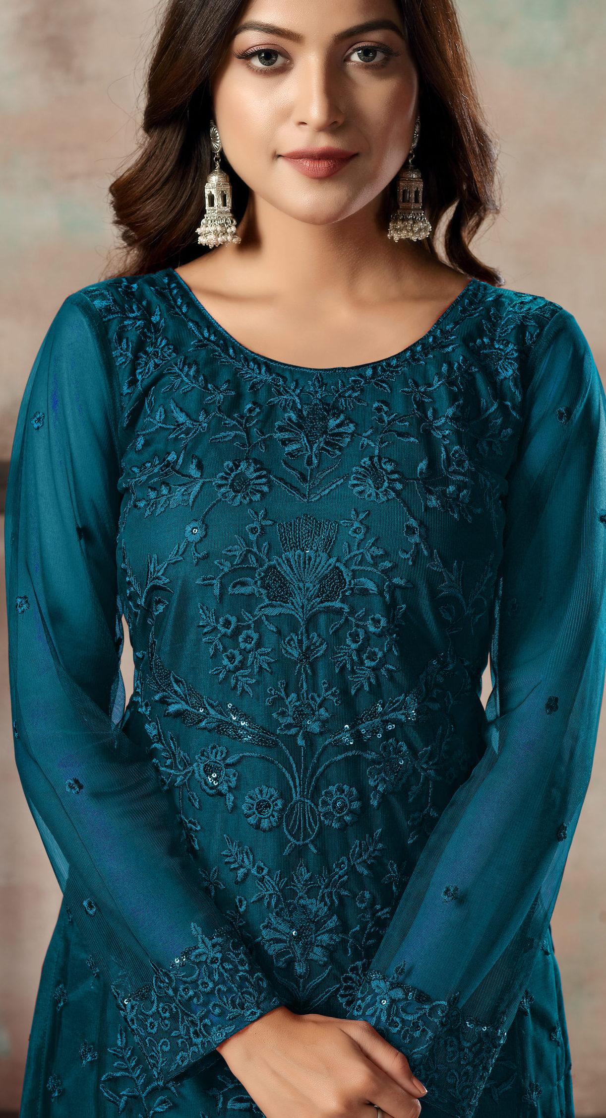 Designer Best Net Salwar Suits Design Indian