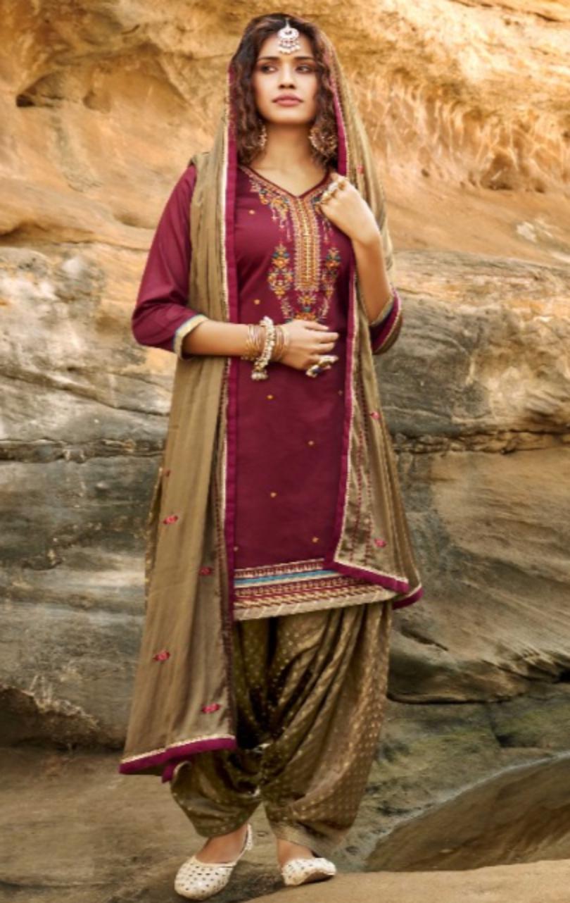 Designer Patiala New Punjabi Suit Design 2021