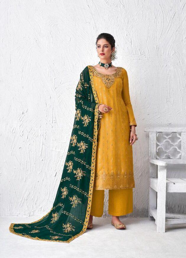 New Best Tumeric Color Party Wear Salwar Suits Online