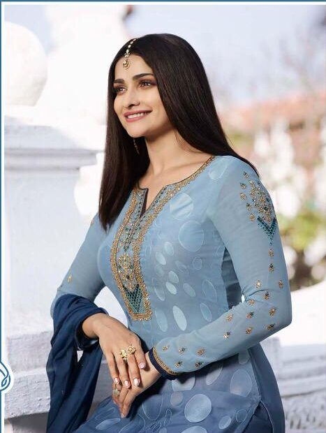 New Style in Punjabi Suits Steel Blue Colour