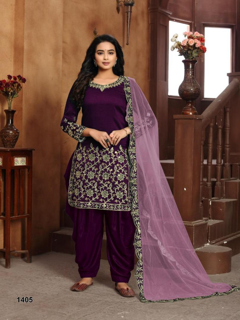 Wine Colour New Style in Punjabi Suits Patiala Form