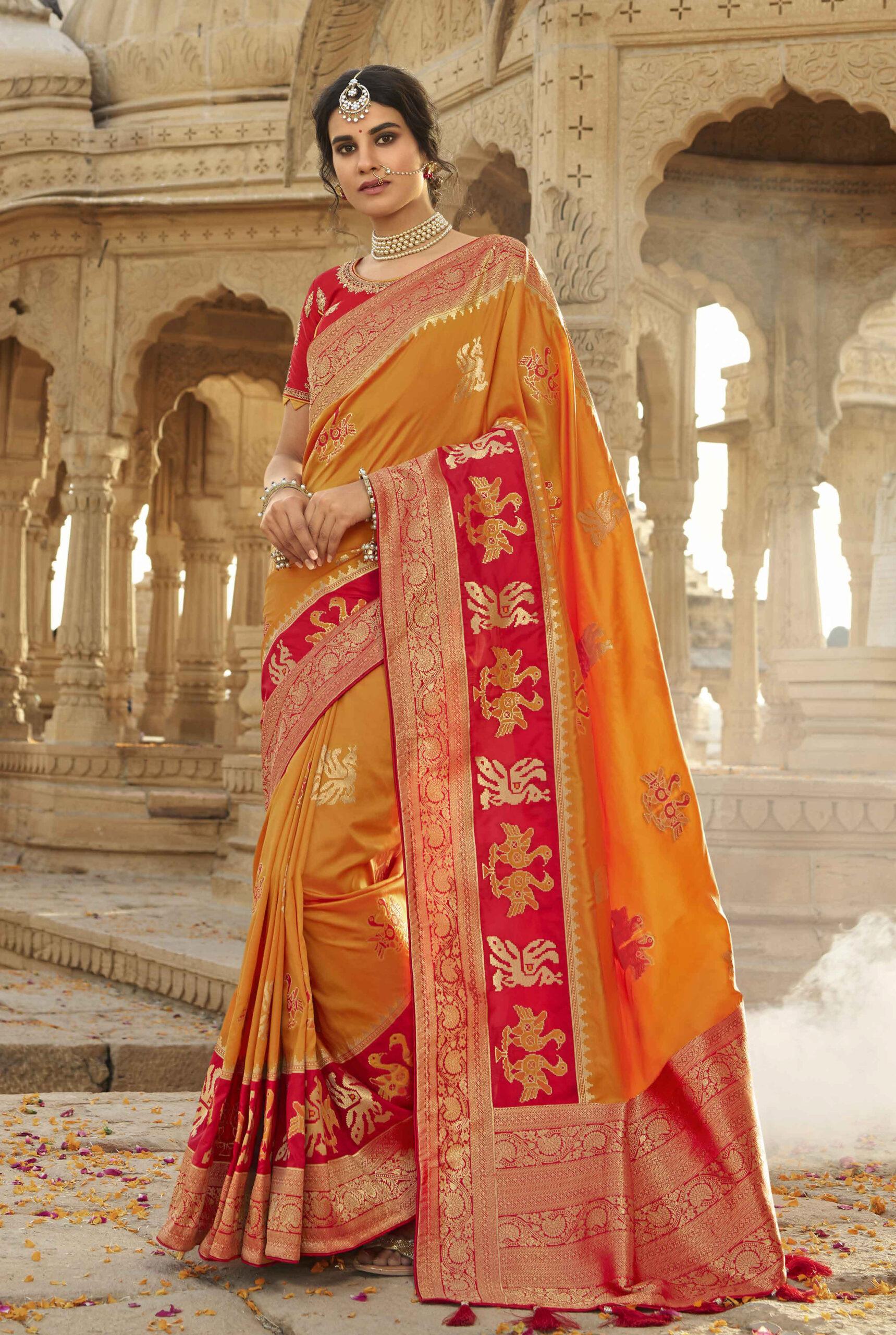 designer sarees for wedding reception
