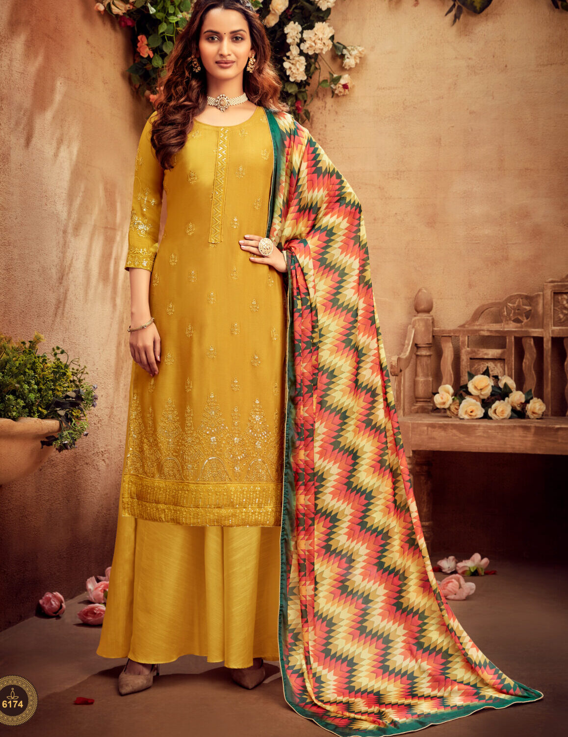 Indian Suits with Palazzo Party Wear