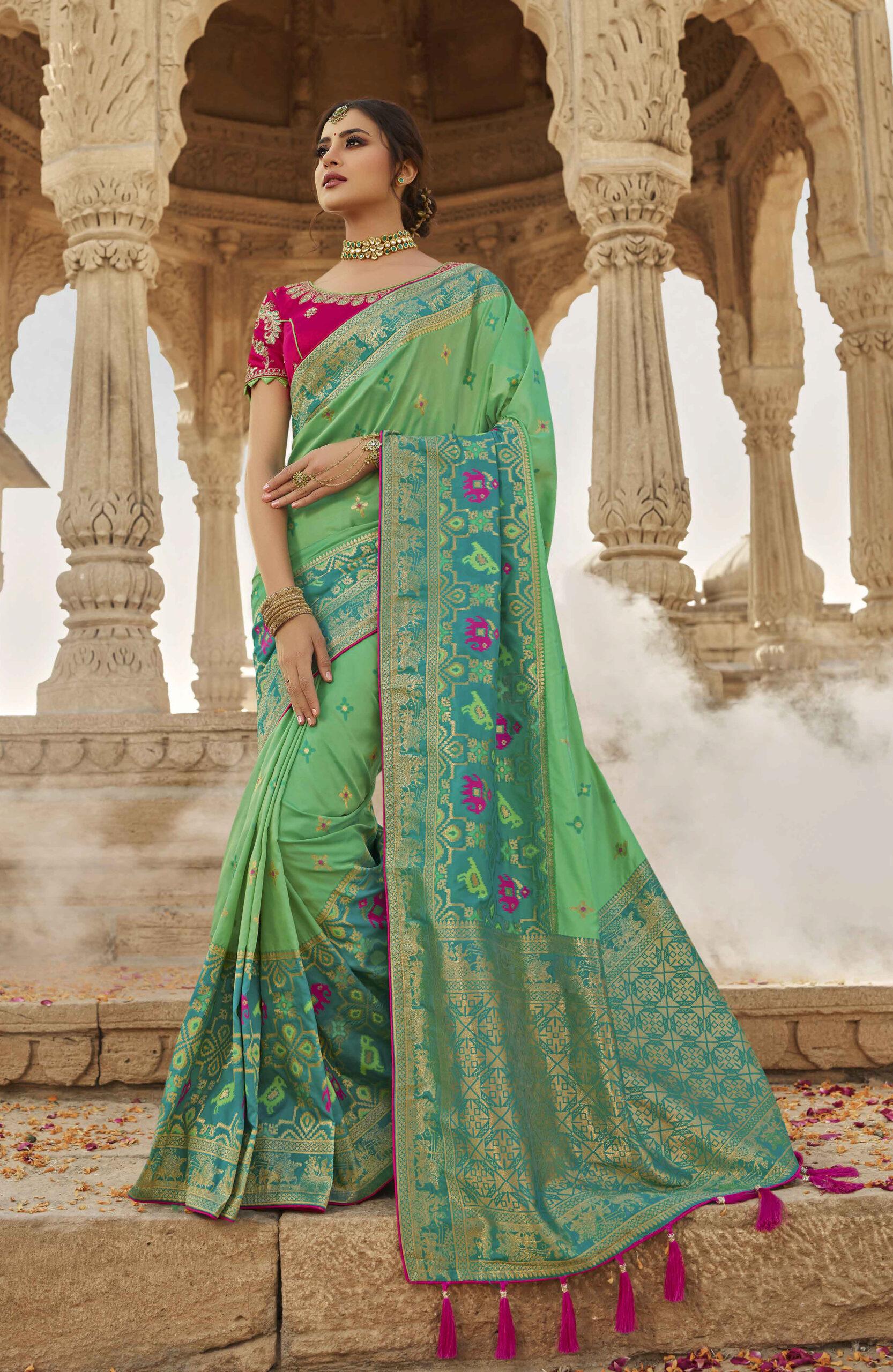 Silk Saree Blouse Design Patterns