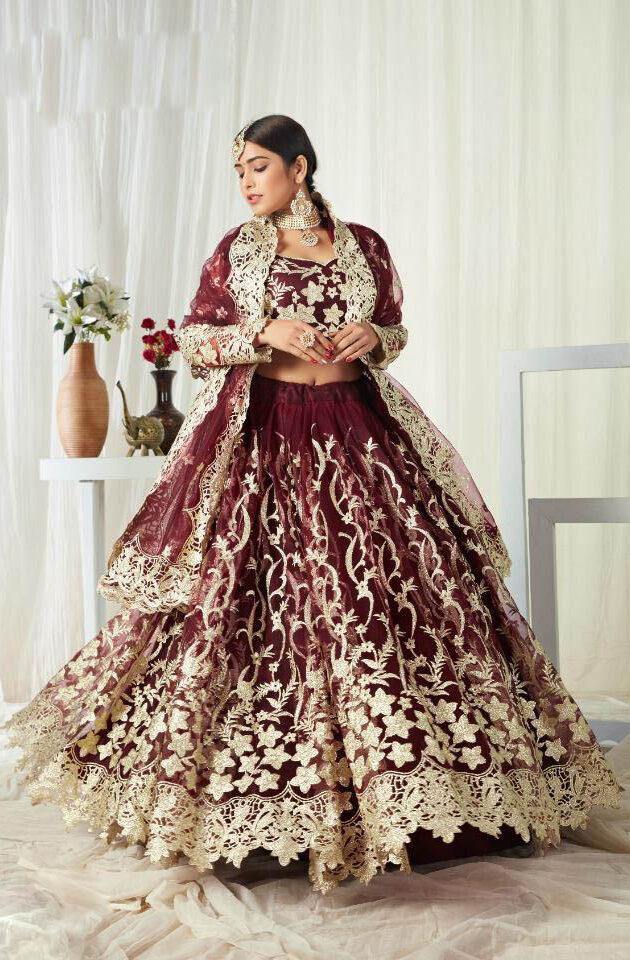 Best Mode Bridal Red Color Latest Lehenga Design 2021