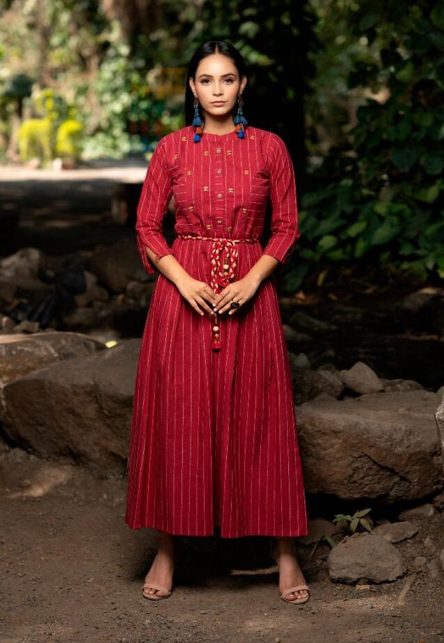 Best Trend Mode Maker Red Color Frock Suit Latest Design