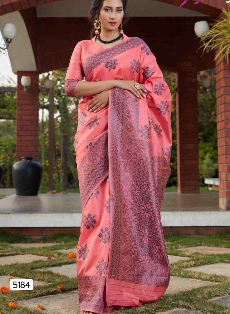 Dark Pink Light Weight Silk Sarees 2021 Online with Price