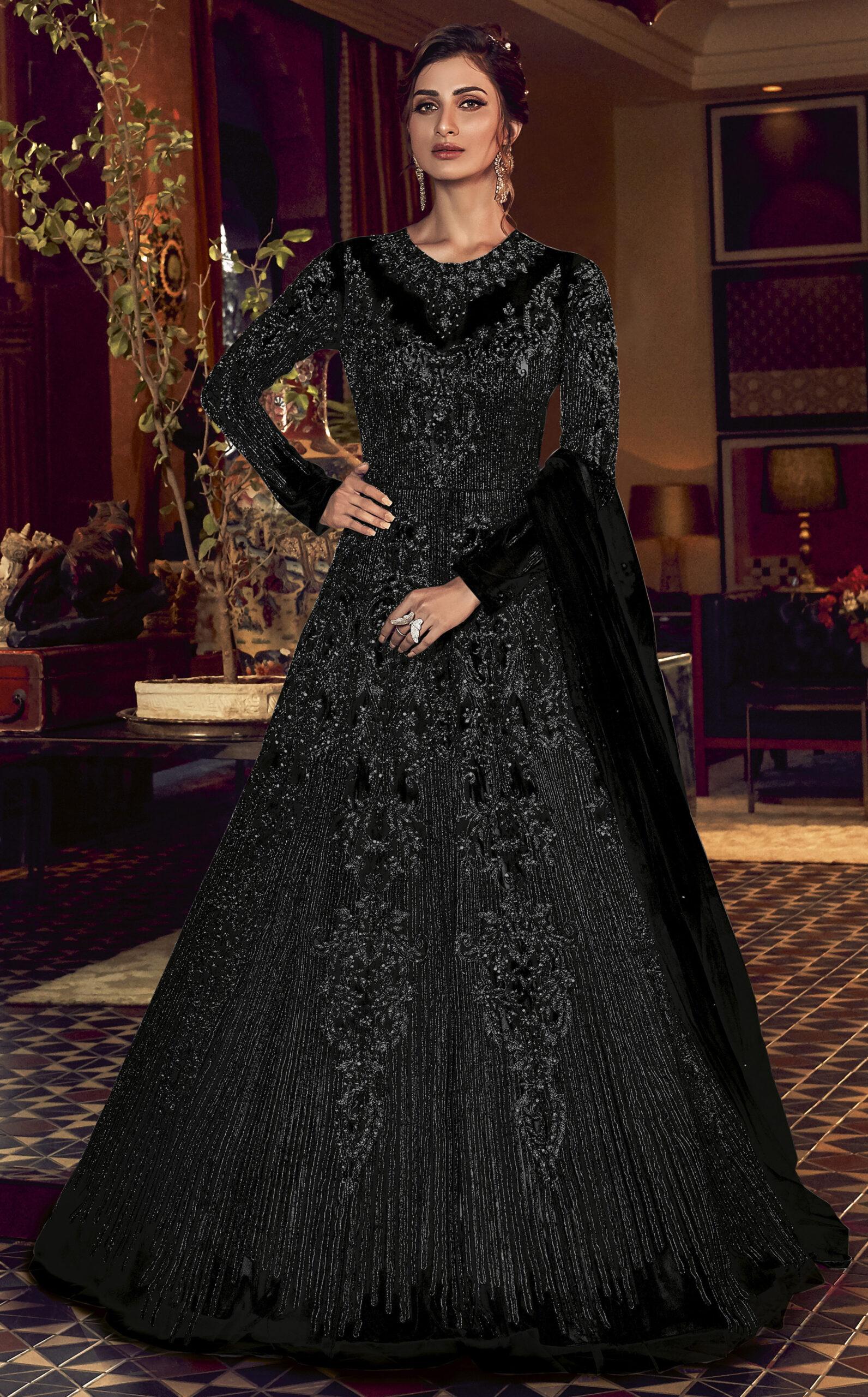 Heavy Net Designer Black Dress For A Party