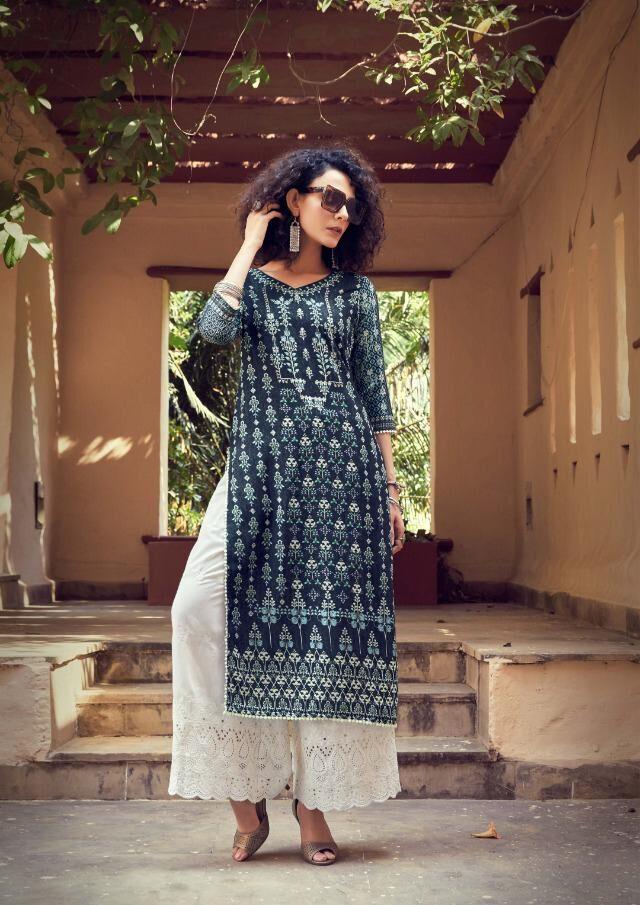 Kundali Bhagya Preeta Style Lucknavi Pallazo Suit