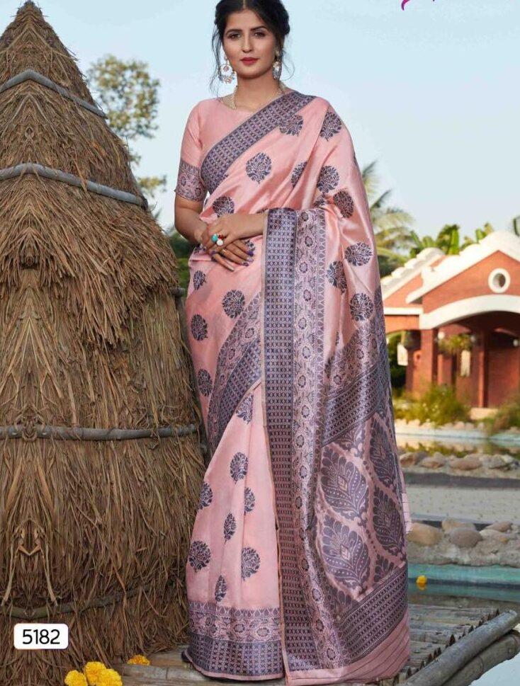 Latest Designer Banarasi Silk Saree Party Wear
