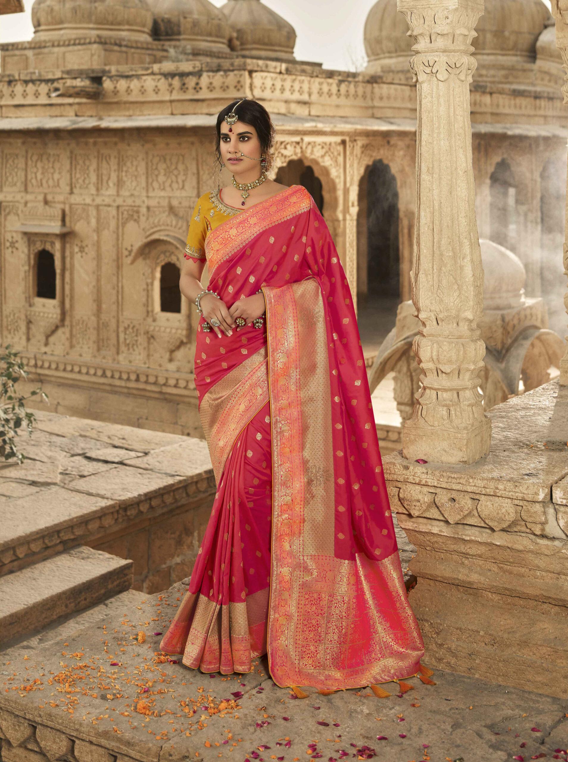 Latest Designer Wedding Silk Saree Images with Price