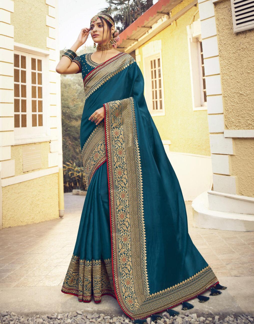 Navy Blue New Designer Bridal Saree Collection 2021