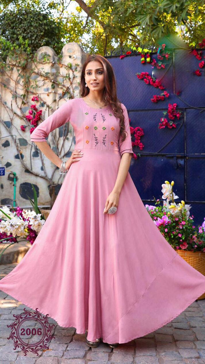 New Trend Designer Light Pink Color Frock Suit Design 2021.