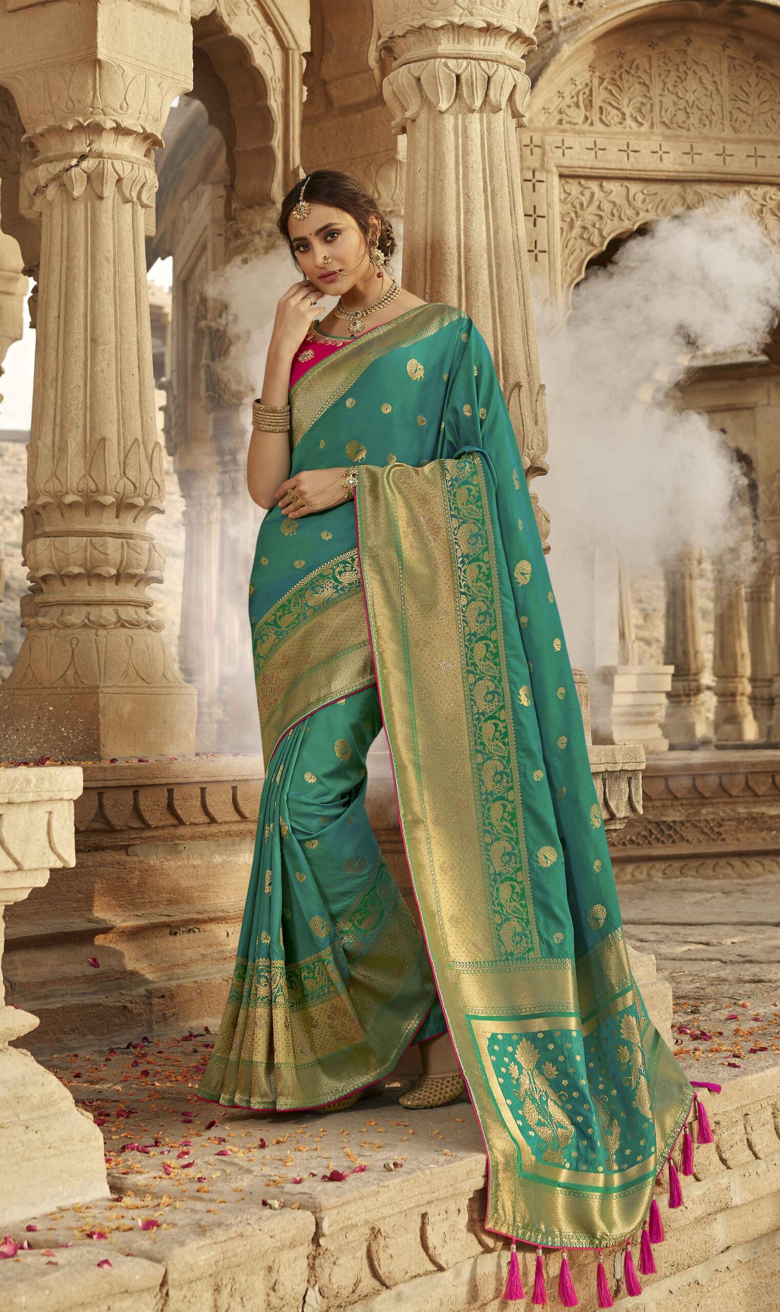 Best Silk Saree Kuchu Designs Images Latest Party-Wear