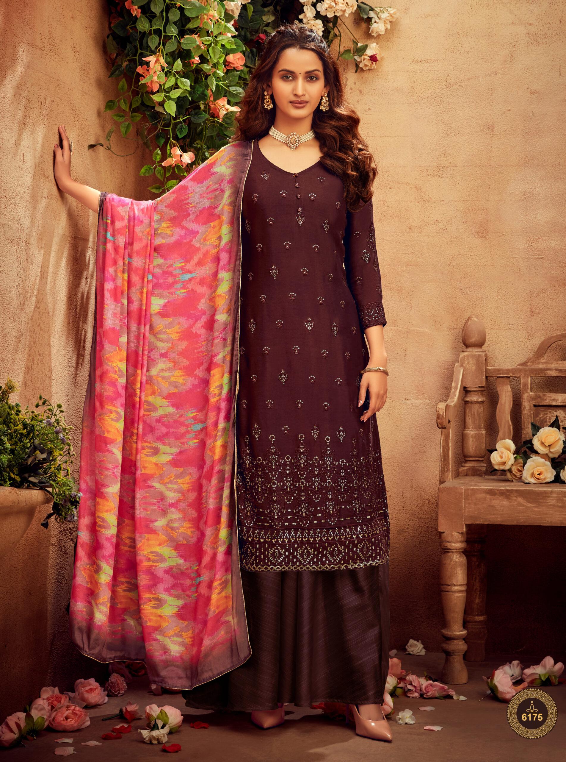 Suit Neck Design Front new fashion salwar suits design Maroon Colour