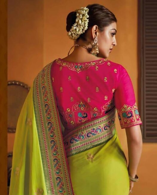 Hairstyle for Traditional Saree