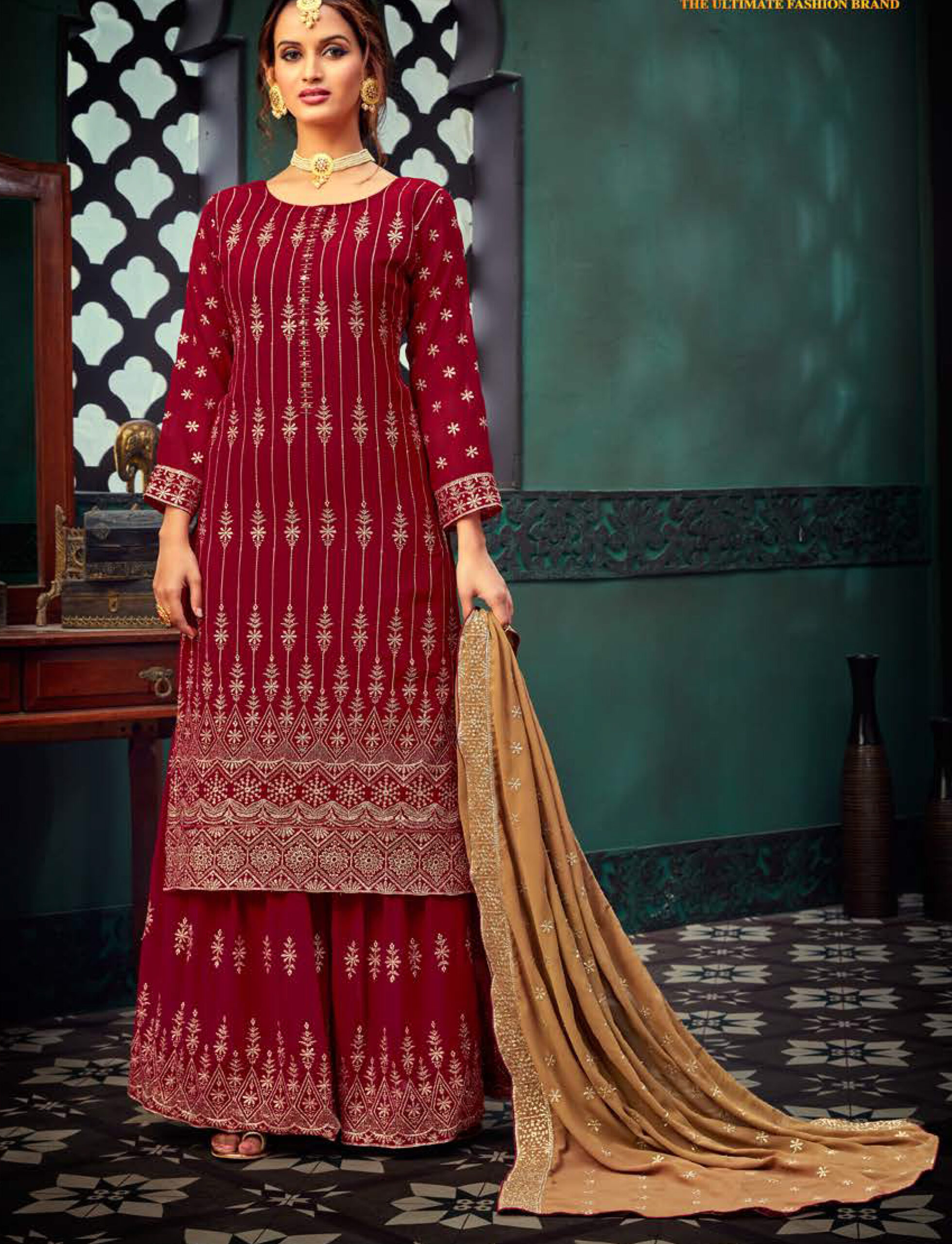 Fancy Party Wear Sharara Suits
